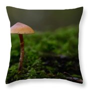 The Lonely Mushroom Throw Pillow