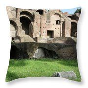 The Lonely Pillar Throw Pillow