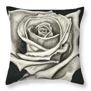 The Lonely Rose Throw Pillow