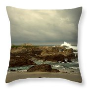 The Lonely Sea And Sky Throw Pillow