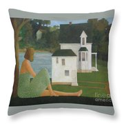 The Lonely Side Of The Lake Throw Pillow