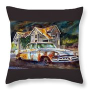 The Lonesome Hotel Throw Pillow