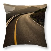 The Long And Winding Road Throw Pillow