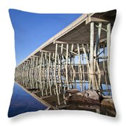 The Long Bridge Throw Pillow
