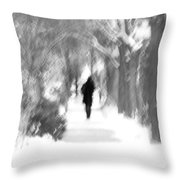 The Long December Throw Pillow