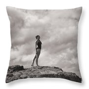 The Long Distance Swimmer Throw Pillow