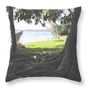 The Long Dock Throw Pillow