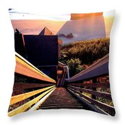 The Long Long Stairway    Throw Pillow