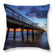 The Long Pier Throw Pillow