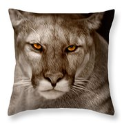 The Look - Florida Panther Throw Pillow