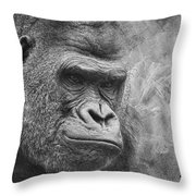 The Look Throw Pillow by Jeff Swanson