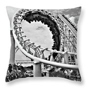 The Loop Black And White Throw Pillow