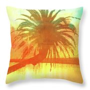 The Loop Palm Textured Throw Pillow