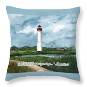 The Lord Guides  Throw Pillow by Nancy Patterson
