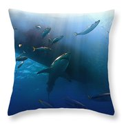 The Lord Of The Ocean Throw Pillow