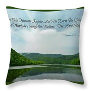 The Lord Reigns Throw Pillow