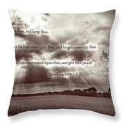 The Lords Blessing Throw Pillow