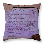 The Lord's Prayer Collage Throw Pillow