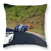 The Loss Of Grip On The Rear Wheels. Throw Pillow
