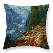 The Lost Cow 1852 Throw Pillow