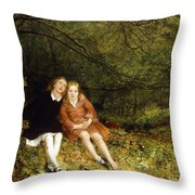 The Lost Path Throw Pillow