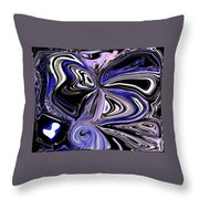 The Lost Statue Abstract Throw Pillow