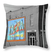 The Lost Tampa Postcard Throw Pillow