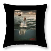 The Lost World In A Bottle Throw Pillow