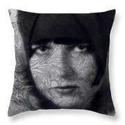 The Louise Brooks Tattoo Take 2 Throw Pillow