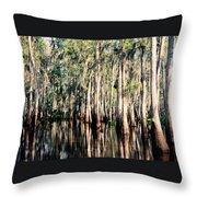 The Louisiana Bayou Throw Pillow