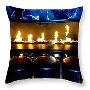 The Lounge Fireplace Throw Pillow