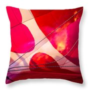 Hearts A' Fire - The Love Hot Air Balloon Throw Pillow