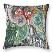 The Love Birds Throw Pillow