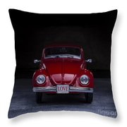 The Love Bug Square Throw Pillow
