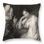 The Love Letter Engraved By Charles Throw Pillow