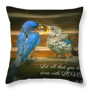 The Love Of A Father Throw Pillow