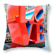 The Love Sculpture Throw Pillow by Paul Ward