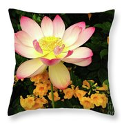 The Lovely Lotus Throw Pillow
