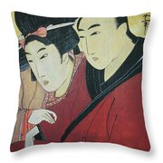 The Lovers Ohan And Chomon  Throw Pillow
