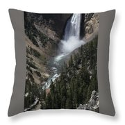 The Lower Falls Throw Pillow