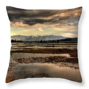 The Lower Pack River Idaho Throw Pillow
