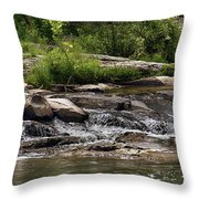 The Lower Yough River Throw Pillow