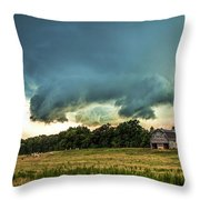 The Lowering Throw Pillow