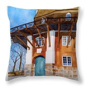 The Lumby Mill Throw Pillow