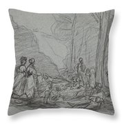 The Luncheon On The Grass Throw Pillow