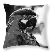 The Macaw Throw Pillow