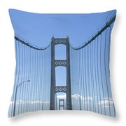 The Mackinac Bridge Throw Pillow