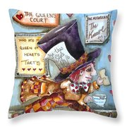 The Mad Hatter - In Court Throw Pillow