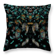 The Maddening Crowd Throw Pillow