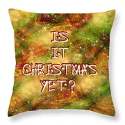 The Madness Of Christmas Card Throw Pillow